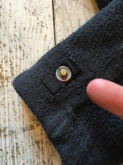 袖口スナップボタン欠品