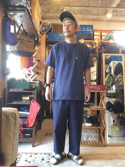 ※172㎝64㎏体型でサイズ「L」着用(Dal Blue)