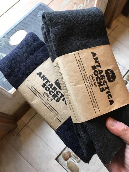 本日Antarctica socks再再入荷しました!!