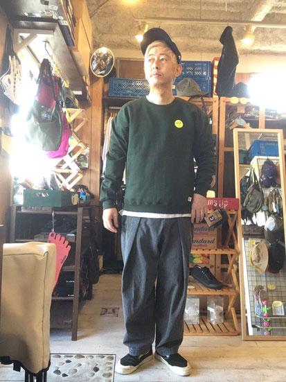 ※172㎝65㎏体型でサイズ「M」着用(Green)