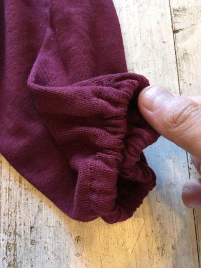 袖口部分(ゴム入り)※ULTRA HEAVY Verは切りっぱなしになります