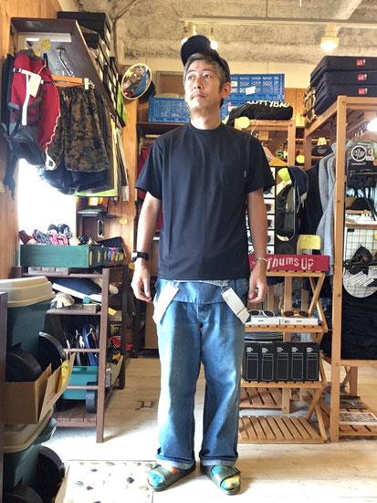 ※172㎝62㎏体型でサイズ「M」着用(Black)