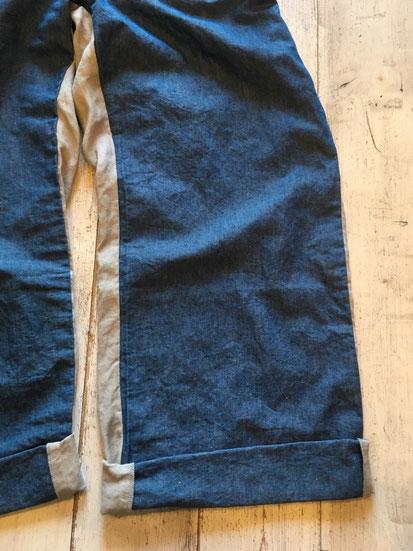 裾部分(丈長めなのでロールアップがオススメ)