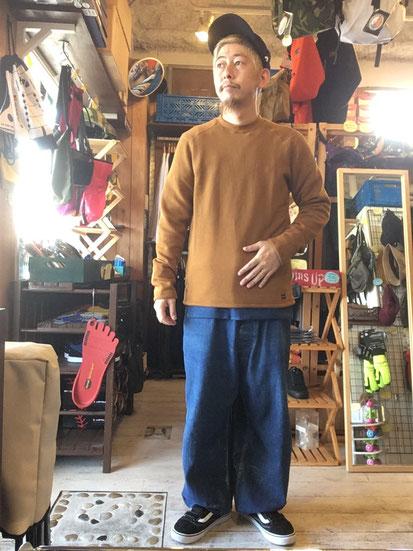 ※172㎝65㎏体型でサイズ「M」着用(Orange Brown)