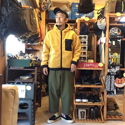 ※172㎝63㎏体型でサイズ「M」着用(Yellow)