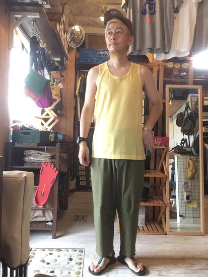 ※172㎝64㎏体型でサイズ「M」着用(Pale Yellow)