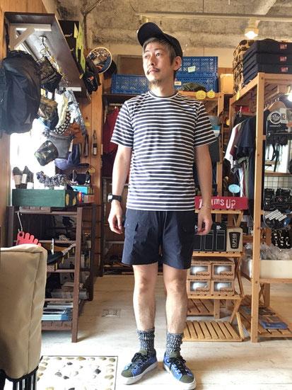 ※ 172cm60kg体型でサイズ「S」着用。同ブランドパンツ「S」着用。