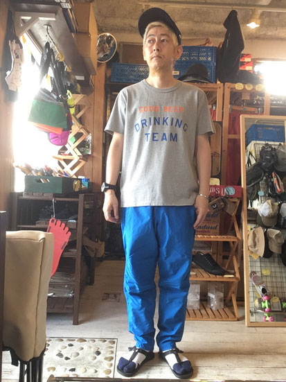 ※172㎝65㎏体型でサイズ「L」着用(Blue)