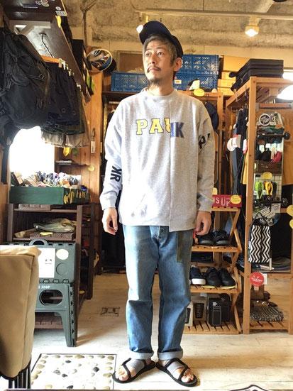 ※172㎝62㎏体型でサイズ「M」着用(Gray)