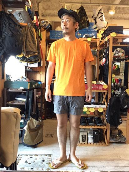 ※172㎝62㎏体型でサイズ「M」着用(Orange)