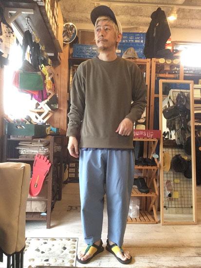 ※172㎝63㎏体型でサイズ「L」着用(Khaki)