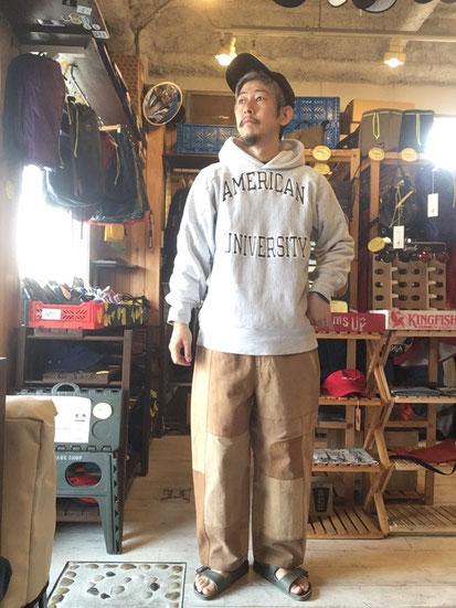 ※172㎝64㎏体型でサイズ「M」着用(パターン②)