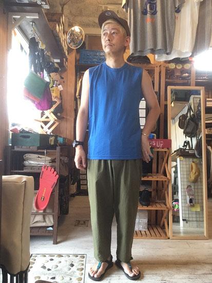 ※172㎝64㎏体型でサイズ「M」着用(Blue)