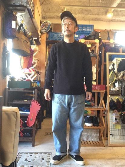 ※172㎝64㎏体型でサイズ「M」着用