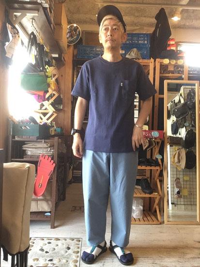 ※172㎝64㎏体型でサイズ「M」着用(Dal Blue)