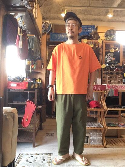 ※172㎝64㎏体型でサイズ「M」着用(Orange)