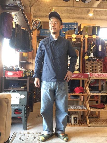※172㎝64㎏体型でサイズ「M」着用(Slate Blue)