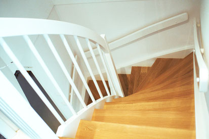 Treppe Massivholz Buche Handlauf