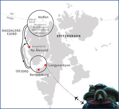 Kasimir, Cäsar, Fredi und Kerl in der Arctica, Nordpol