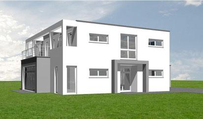 """Haus des Monats April """"Modern 155""""   Schmitz Baugeschäft"""