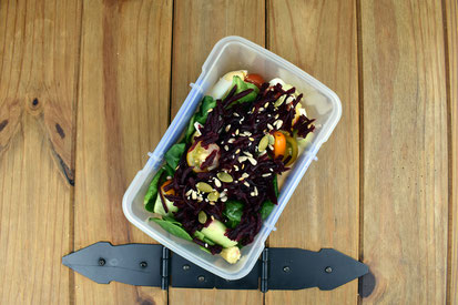 Chickpea Beetroot & Egg Salad