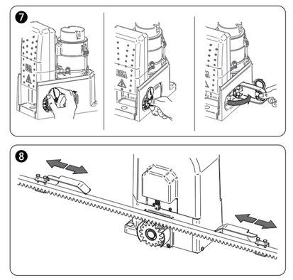 Réparation de moteur de portail coulissant DEA