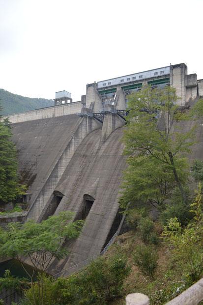 大野ダム(堤高61.4m、堤頂長305.0m、堤体積167,000㎥)