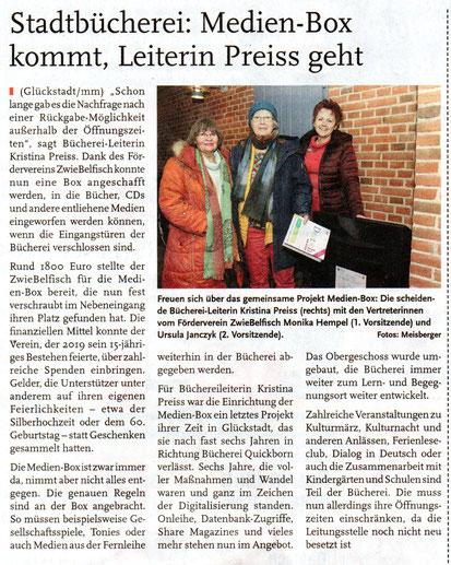 Stadtbücherei: Medien-Box kommt, Leiterin Preis geht