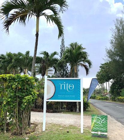 Rito Cook Islands frontage, Tamanu oil, Tamanu oil Rarotonga, made in Rarotonga