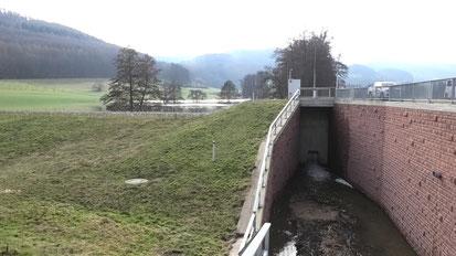 Hochwasserrückhaltebecken HRB Fischbach in Fischbachtal