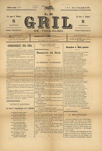 Lé Gril de Toulouso - parution de 1901