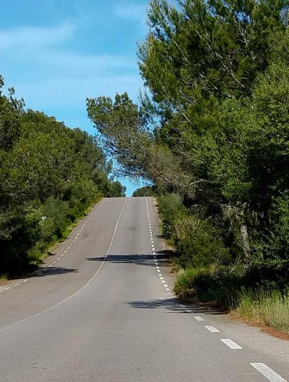 Noch zwei Kilometer bis Cala Murada.