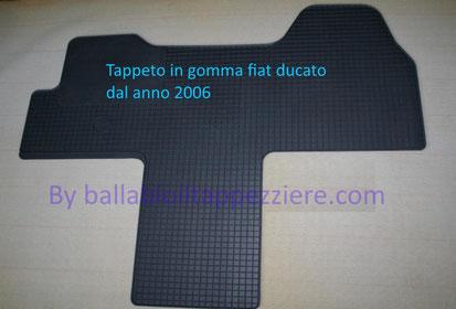 Tappeto in gomma camper ducato -camper-furgone-ambulanza anno 2006-2019 By ballabioiltappezziere.com