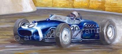 Art automobile - Michel Verrando - F1 painting - Stirling Moss