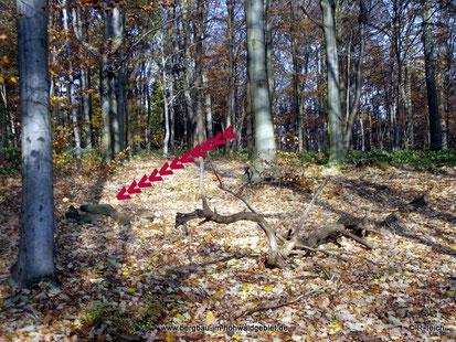 Lage der Gedenktafel auf dem Ungerberg