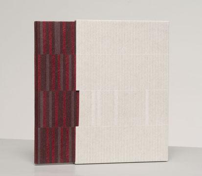 Cordel - reliure plein papier, dos cuir / design bookbinding paper