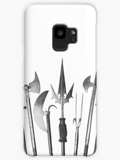 iPhone-Hülle/Cover mit mittelalterlichen Stangenwaffen Motiv
