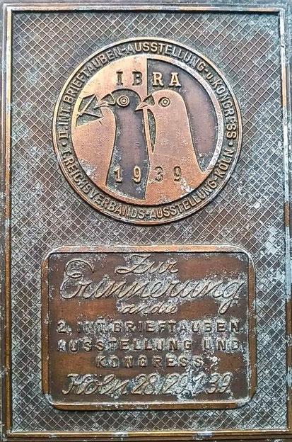 IBRA, Internationale Brieftauben-Ausstellung 1939, Brieftaube historisch, Brieftaubenwesen, Verband Deutscher Brieftaubenzüchter, Geschichte der Brieftaube