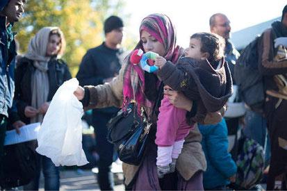 Flüchtlinge am Bahnhof Lehrte, Quelle: HAZ