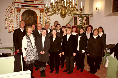Nach dem Adventskonzert in Vietznitz 2013