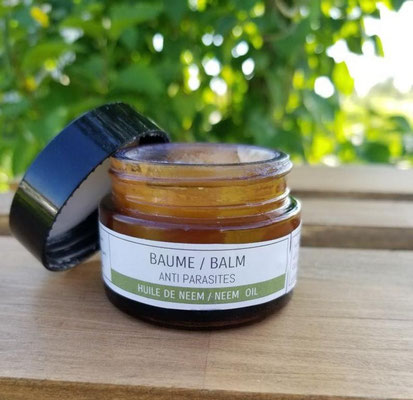 Insect-hunting balm, chien nature, vegan
