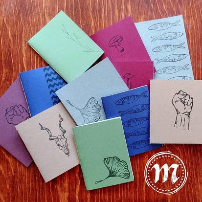 Marginali, etsy québec, cahier colorés, reliure