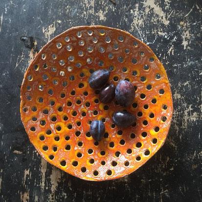 fruit, dish, ceramic, orange