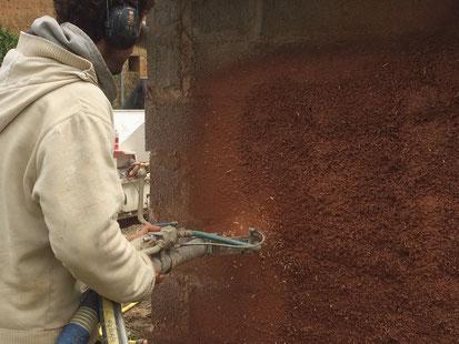 artisan terre enduit projeté normandie manche calvados mur solution isolation