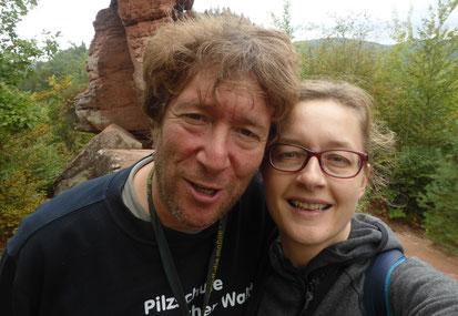 Dr.Lothar Krieglsteiner Leiter der Pilzschule Schwäbischer Wald und Katharina Krieglsteiner Pilzdesignerin zu Gast an der Algarve,Carvoeiro,Portugal