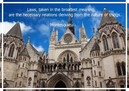 法とは、最も広い意味にとれば、事物の本性に由来する必然的な関係である。
