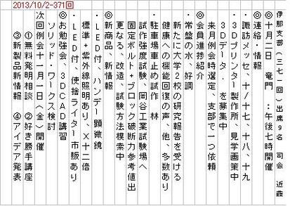 2013/10/1-例会内容