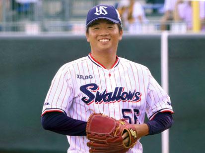 「今季一番の笑顔ショット。さすが小山田BC」