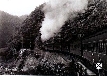 古虎渓駅から8号トンネルへ(昭和34年)