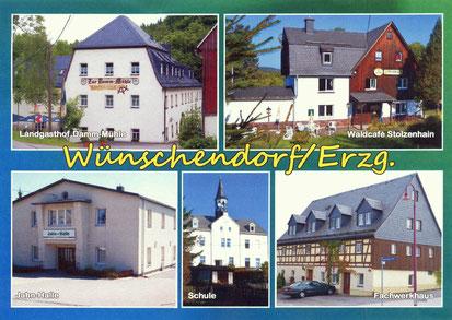 Bild: Teichler Wünschendorf Erzgebirge Postkarte 2014